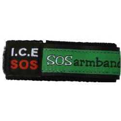 ICE SOS armband groen medium  - 8