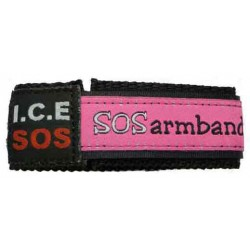 ICE SOS armband roze medium  - 7