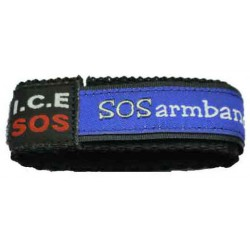 ICE SOS armband red medium