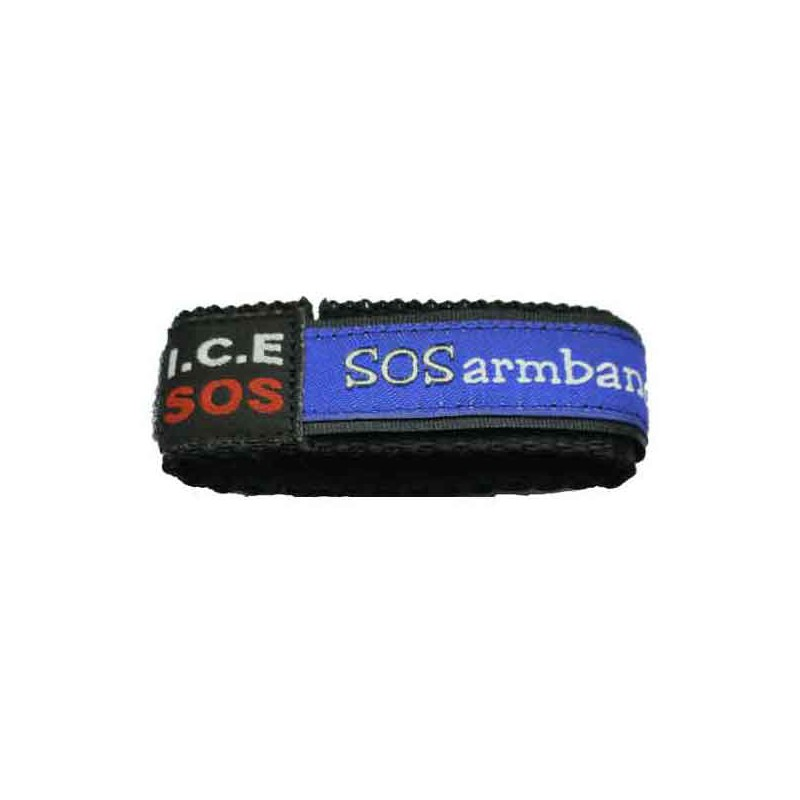 ICE SOS armband red small