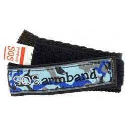 ICE SOS armband blauw camo medium  - 1