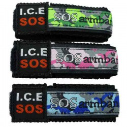 ICE SOS armband geel large