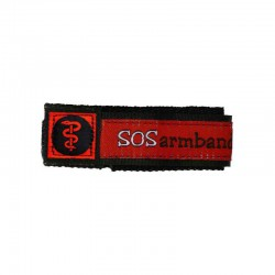 SOS armband medisch rood small  - 6