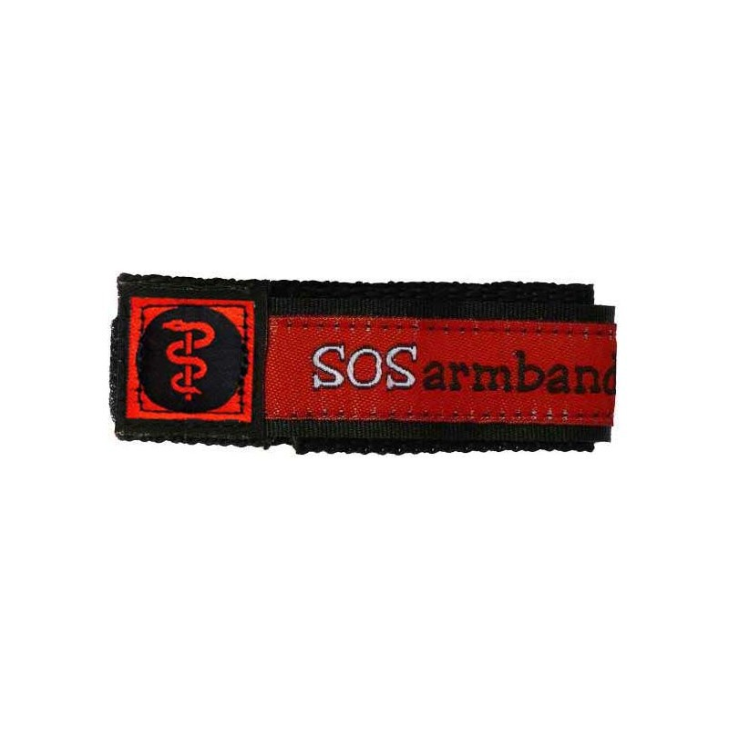 SOS armband medisch rood large  - 6