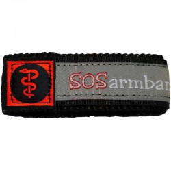 SOS armband medisch rood large  - 9