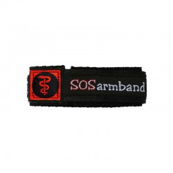 SOS armband medisch wit medium  - 9